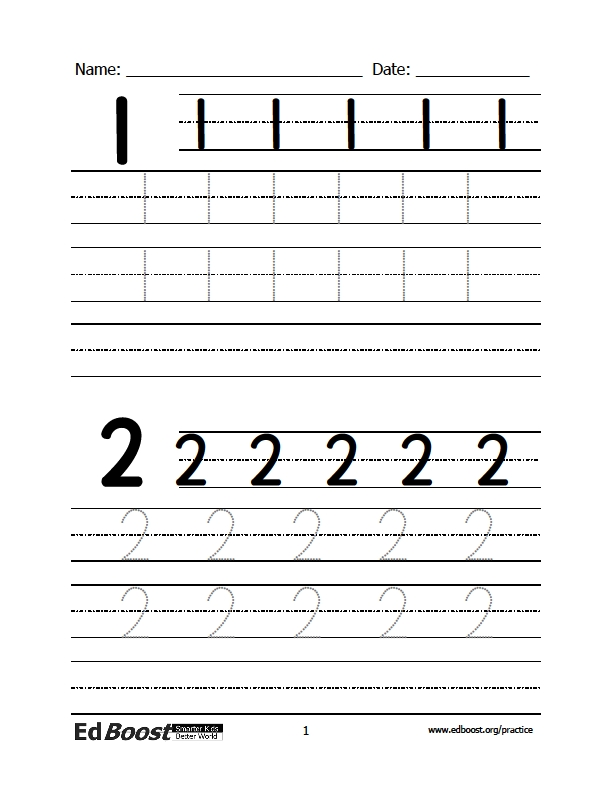 Worksheets How To Write Numerals writing numbers edboost write numerals