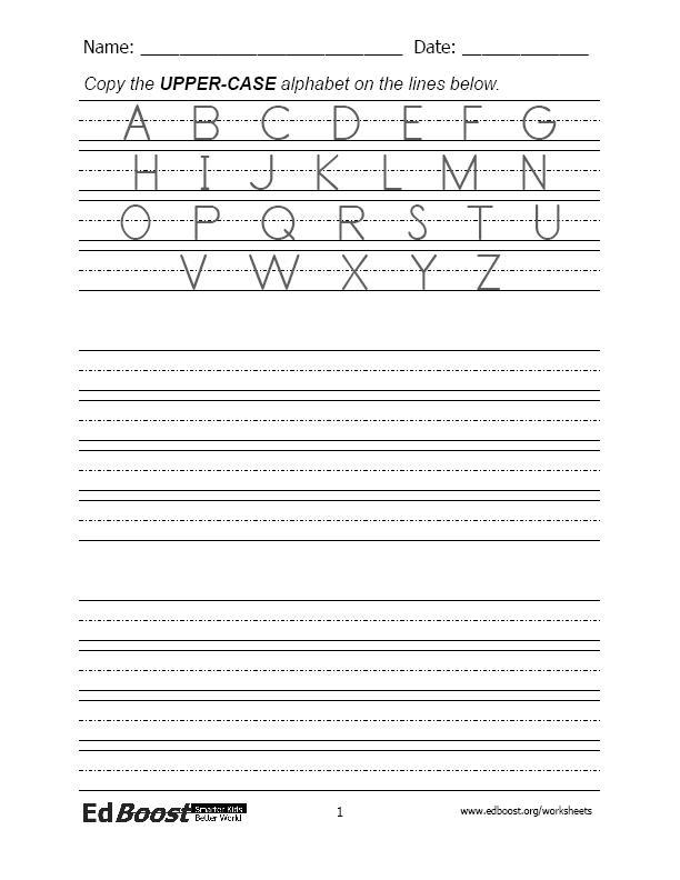 letters print practice alphabet