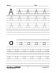 Letters - Print Practice - Pre-School | EdBoost